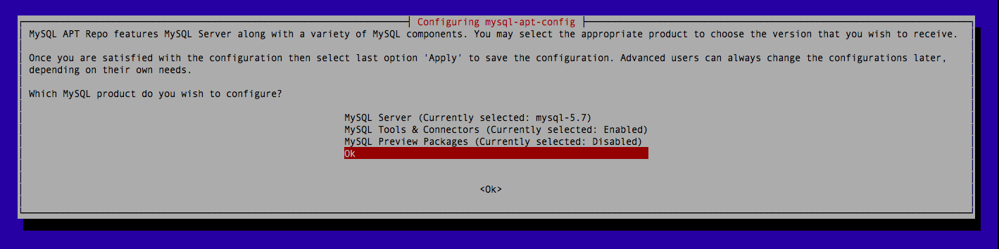 Mysql Server 5.7 on Debian 8