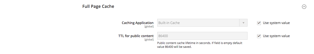 Magento 2 Full Page Cache default setup