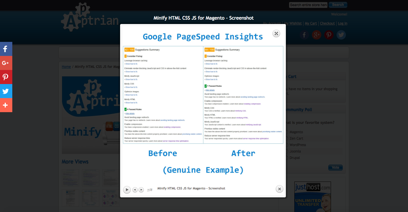 2 points google page speed improvement