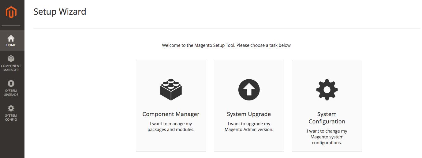 Magento 2 Web Setup Wizard