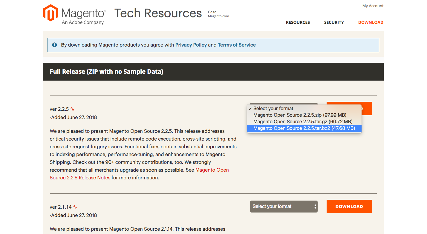 Download The Latest Magento 2