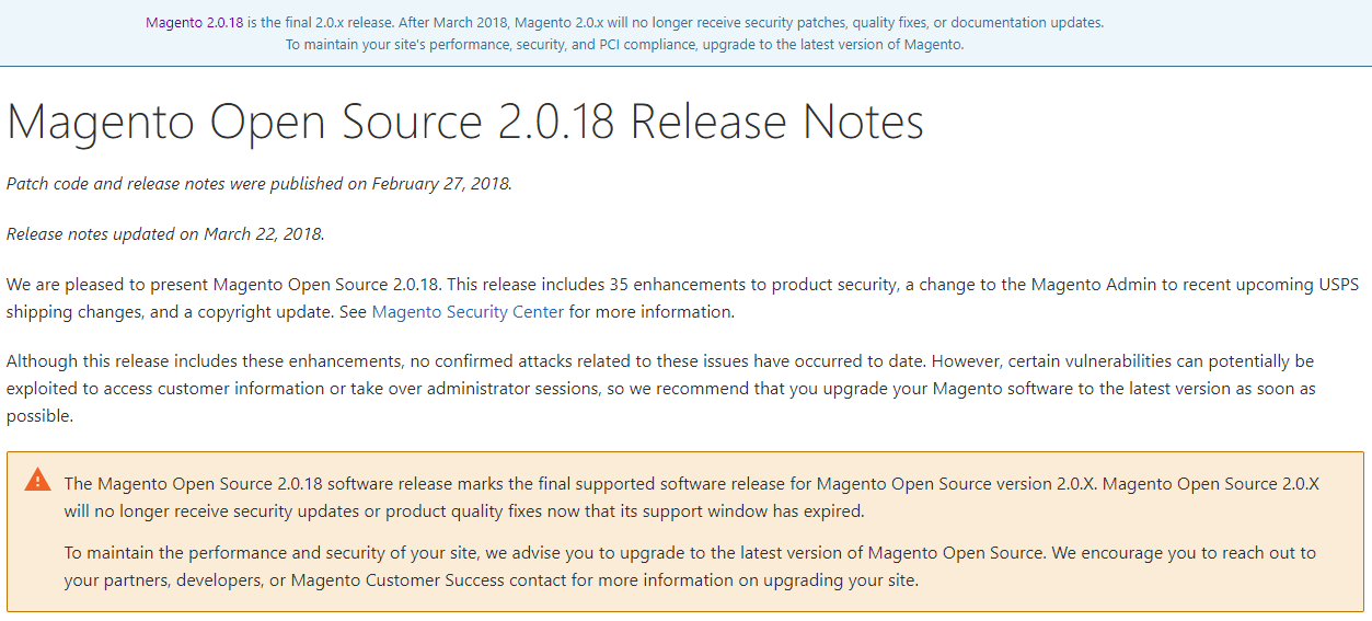 Magento Security Audit in 2019