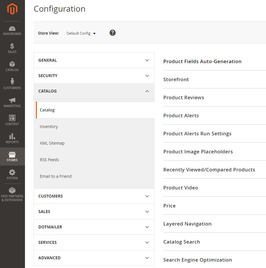 Configuration Catalog