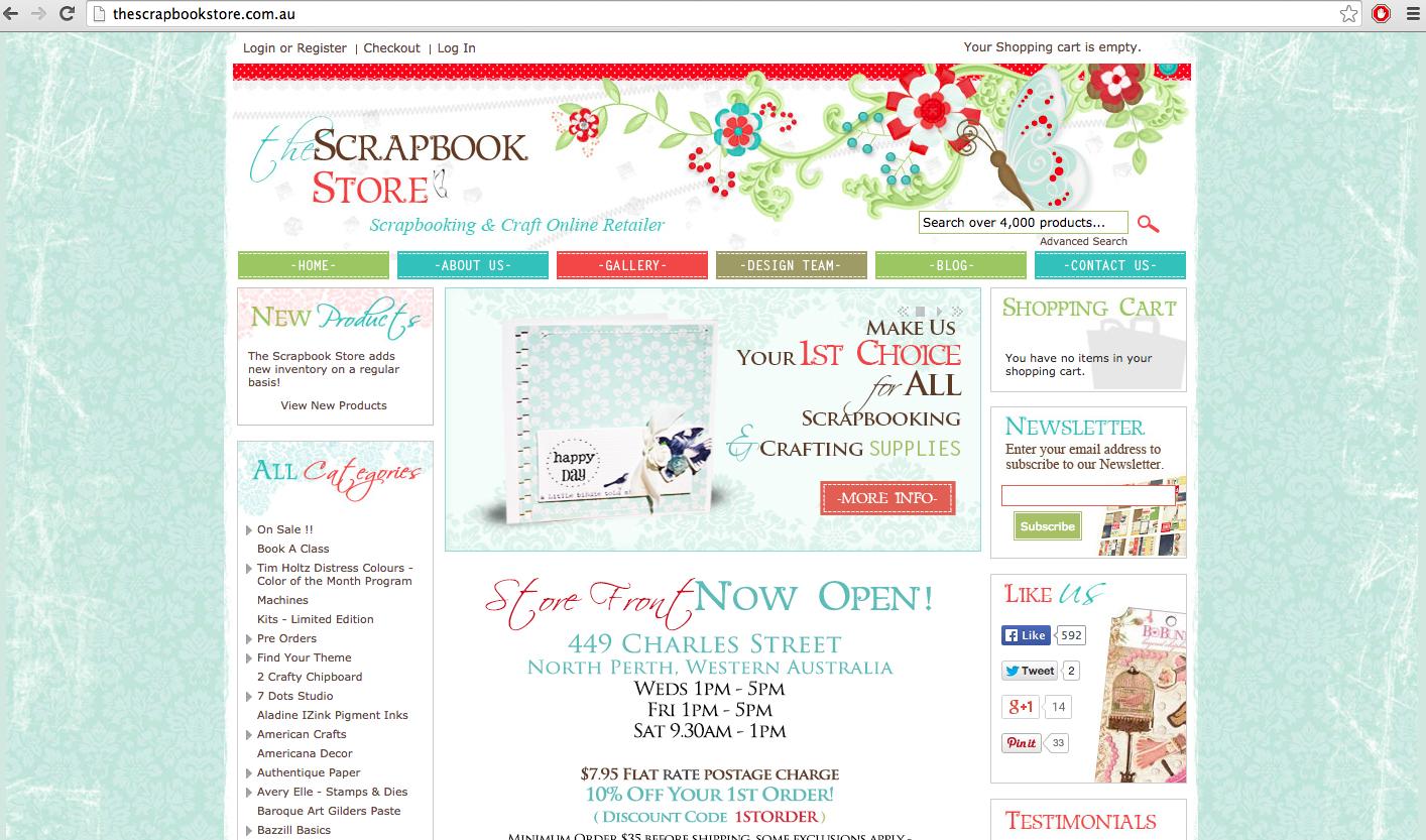 TheScrapBookStore.com.au Study Case