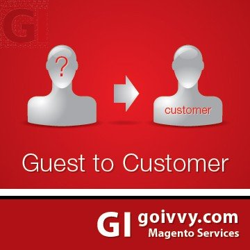 Magento Guest to Customer