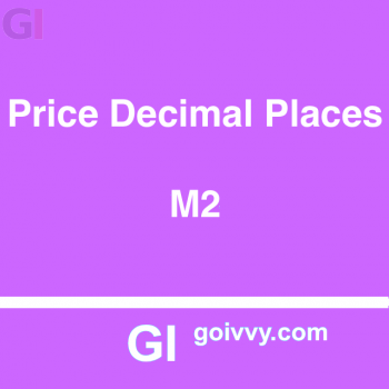 Product Price Decimal Places Magento 2 Extension